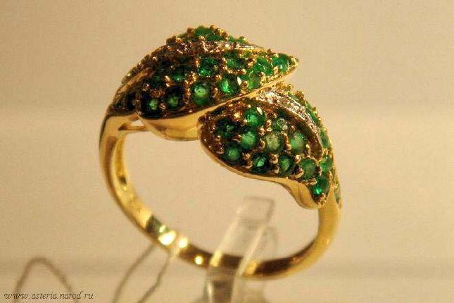 кольца золото 750